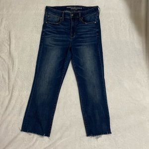 American Eagle High Rise Crop Flare Jean